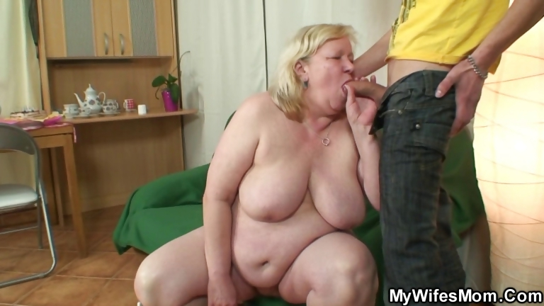 Porn Tube of Huge Granny Is Banged By Her Son On Law