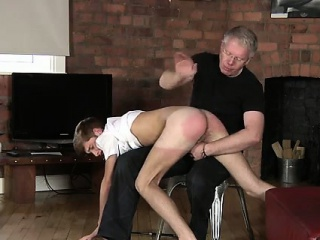Ass bare gay male male spanking