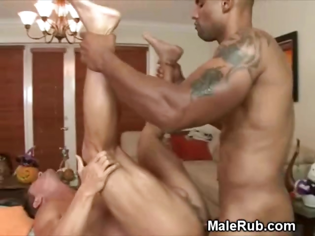 Porno Video of Black Masseur Pounds His Male Clients Ass On Massage Table