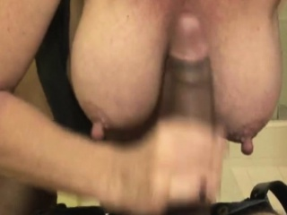Bigtitted mature handjob milf facialized after hj