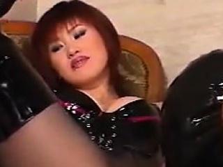 Japanese Slut Wearing A Slave...