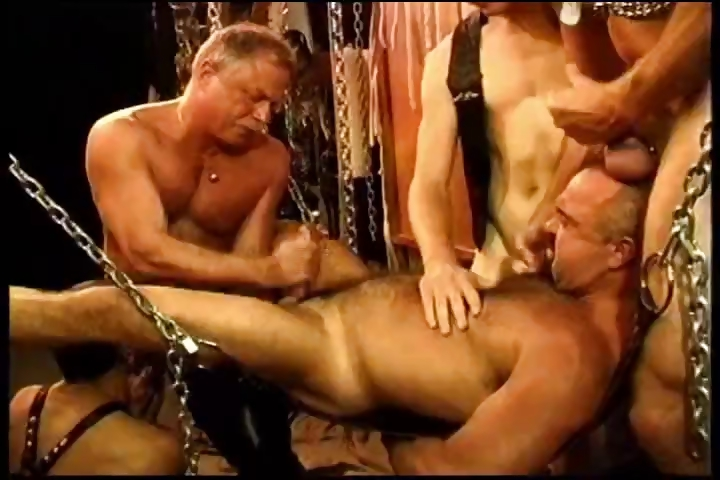 Porno Video of Five Man Sensual Cbt, Bdsm Orgy Featuring Bears And Otters.