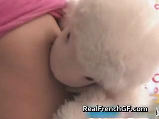 Beautiful french teen in pink panties part6