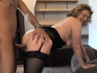 Francoise analfucked in stockings...
