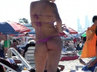 Sexy russian in out beach...