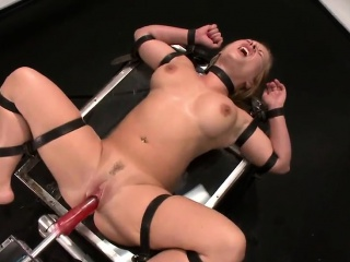 Russian Strapped And Fucked By A Machine...