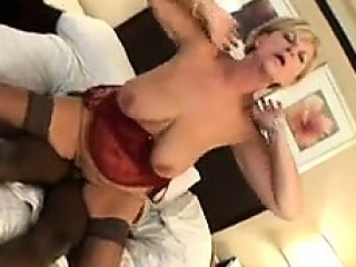 Horny granny loves his cock...