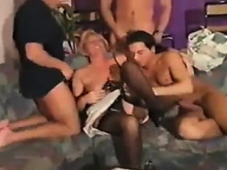Mature Woman From Germany In A Foursome