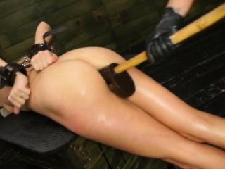 FetishNetwork Halle Von strapon bdsm sex with Marina Angel