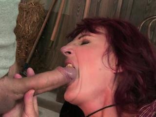 Horny amateur first handjob...