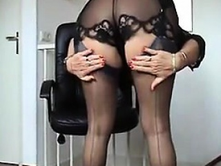 Granny Being A Tease Lingerie...
