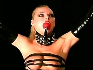 Busty Blondie Tied And Submitted In A Pervs Dark Dungeon...