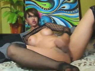 Hot busty shemale babe free cam masturbation show! Get to