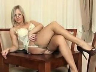Milf teasing her body lingerie...