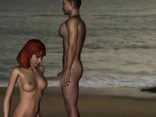 Tasty 3D cartoon redhead fucked hard on the beach