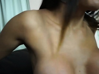 Tasty shemale from Brazil gives and receives anal pounding