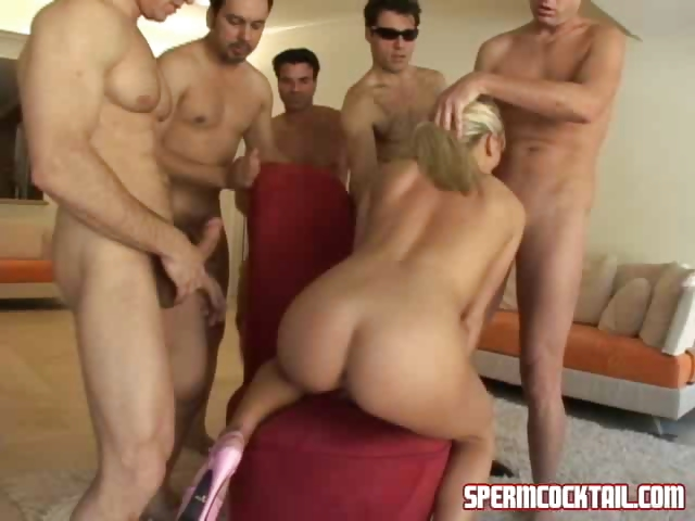 Porn Tube of Blonde Destroys A Cock Army