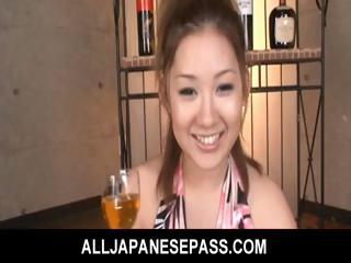 Porno Video of Karin Tsubaki Asian Model Is Getting Her Hairy Pussy Poked
