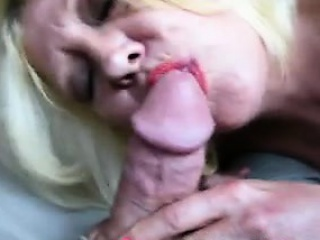 Grandma sucking my cock