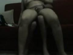 мастурбация через купальник