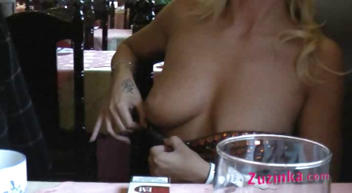 Porno Video of Natural Exhibitionist In Chinese Restaurant - Video