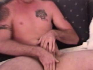 Gay solo jock tugging his cock closeup