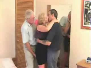 Porn Tube of Mature Swinger Trio In A Hotel