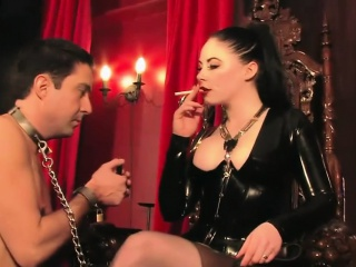 Femdom Plays With Her Manslave...
