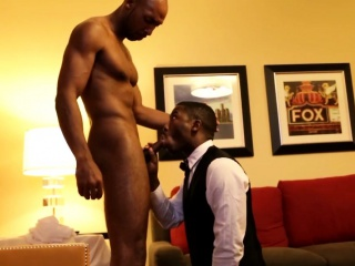 Gay ebony cocksucker doing what cums natural