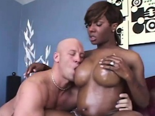 Ebony tranny Chasidy in erotic oral sex