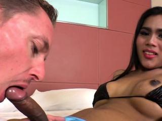 Asian Shemale Babe Kate K Assrides A Cock
