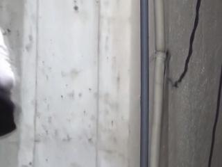 Fetish asian pee in alley