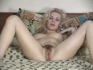 Porn Tube of Blond Hairy Women Masturbates