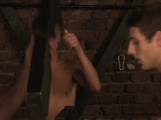 BDSM gay orgy in a dungeon where twinks gets fucked