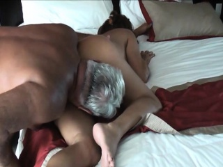 Wild mature couple going crazy first thing in the morning