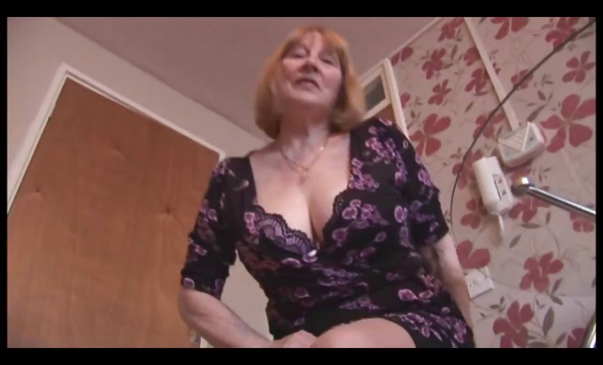 Sex Movie of Attractive Busty Granny And Teases Then Shows Off Her Hairy Plump Pussy