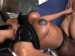 Busty Shemale Stunner Jennifer Rios Fucks A Guy