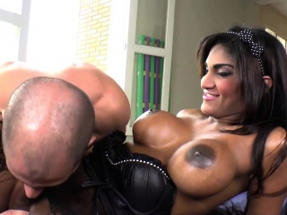 Busty Shemale Stunner Jennifer Rios Fucks A Guy
