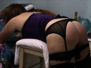Wife begs for mercy spank
