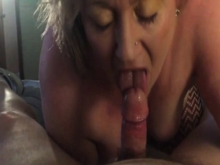 Mature fatty is good only for sucking big hard dicks