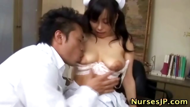 Porno Video of Japanese Nurse With Hairy Pussy