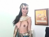 Грудастая кэм цыпленок с египетской костюм