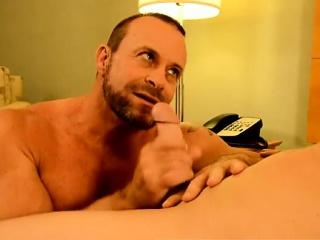 Sexy deep throat gay men kissing Twink rent dude Preston get