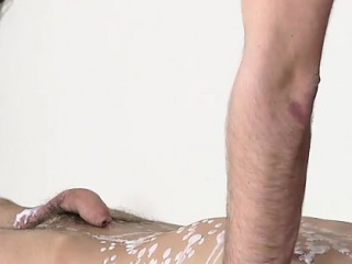 Asian gay bear porn Brit youngster Oli Jay is bound down to