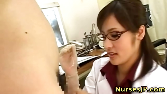 Porn Tube of Dirty Japanese Nurse In Spex