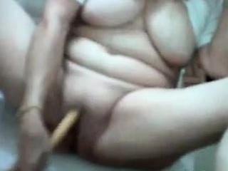 Thick latin granny masturbates...