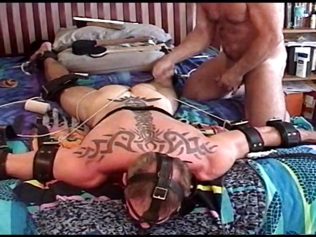 Porn Tube of Muscular Dude Is Bound And Face Down While I Pound His Balls And Then Turn Him Over And Pound More.