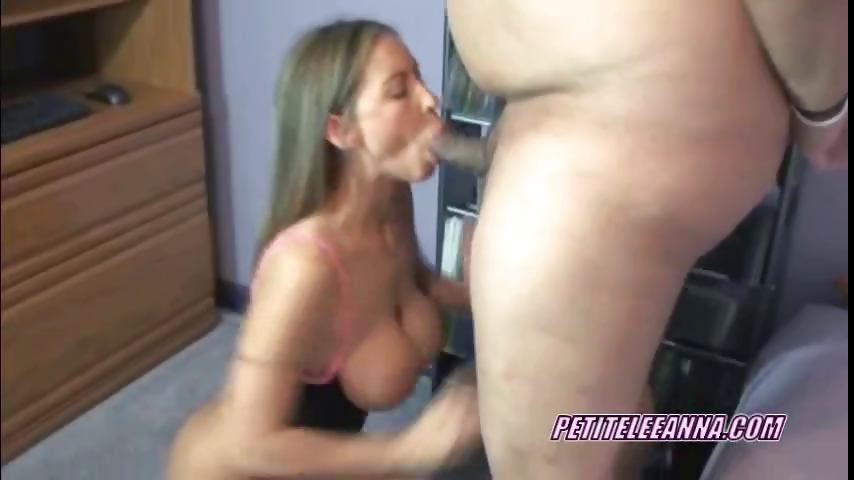 Porno Video of Petite Leeanna In Lingerie And Swallowing A Cock