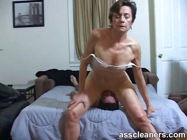 Porno Video of Young Boy Is Hungry Over An Oldie Mistress' Dirty Ass Hole