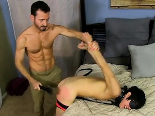 Rough gay sex movie He paddles the strapped boy until his ru